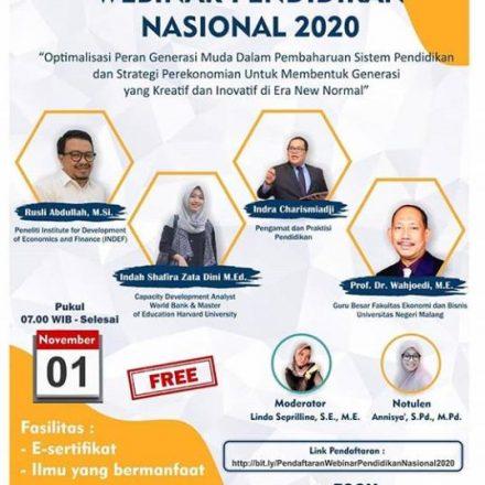 Webinar Pendidikan Ekonomi Nasional 2020