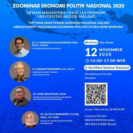 Zoominar Ekonomi Politik Nasional 2020