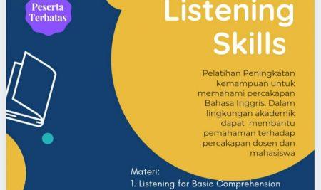 Pelatihan Daring Academic Listening Skill